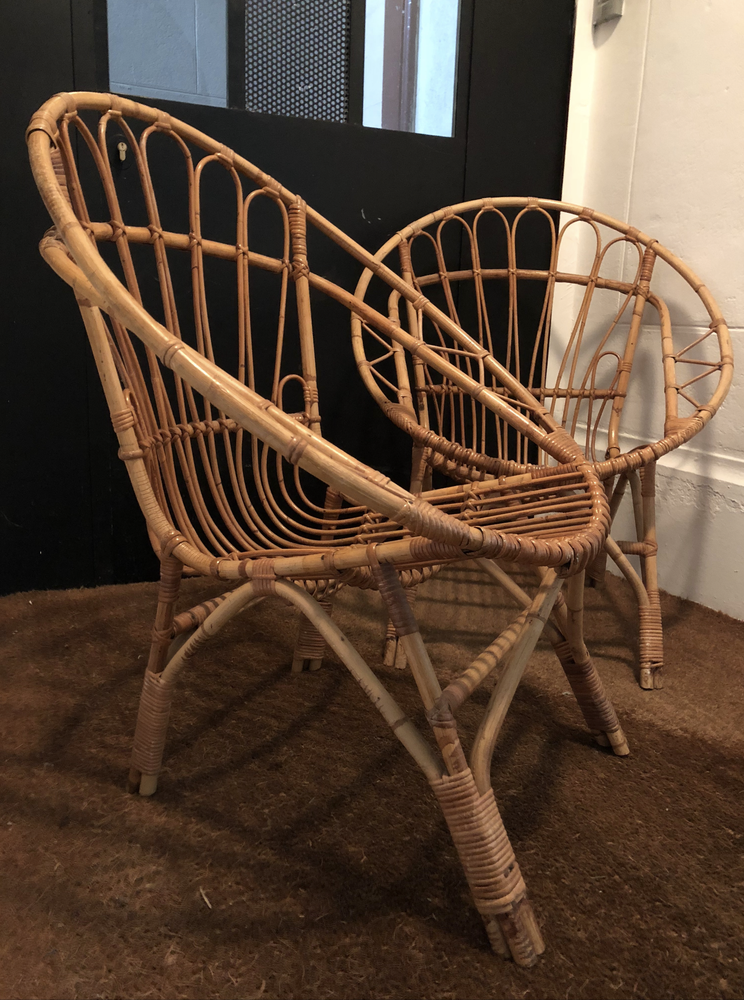 Image of Fauteuil rotin