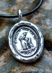 "Image of ""Protect My Dog"" Pewter Pendant"