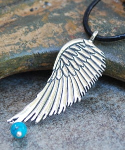 Image of On Angels' Wings Pewter Pendant