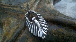 "Image of Angel Pendant ""Watch Over Me"" Pewter Pendant"