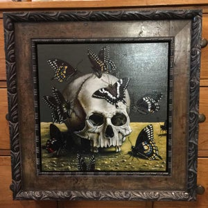 "Image of ORIGINAL FRAMED PAINTING  - ""DARK ANGELS"""