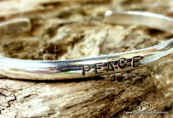 "Image of ""Peace"" Sterling Bracelet"