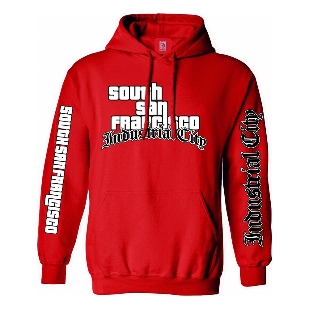 Image of Industrial City GTA Hoodie (Red)