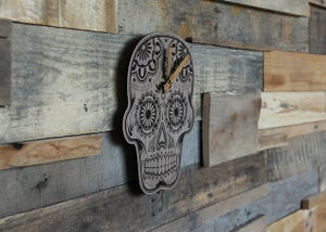 Image of Dia de los Muertos Clock - Baltic Birch Plywood