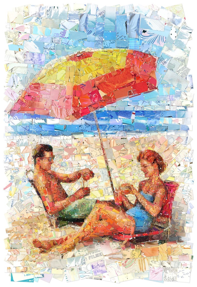"Image of ENDLESS SUMMER ""Umbrella"" (Limited edition digital mosaic on canvas)"