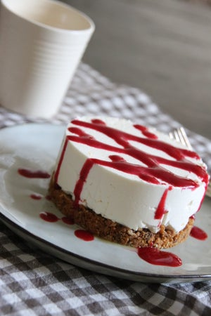Image of cheesecake sans cuisson