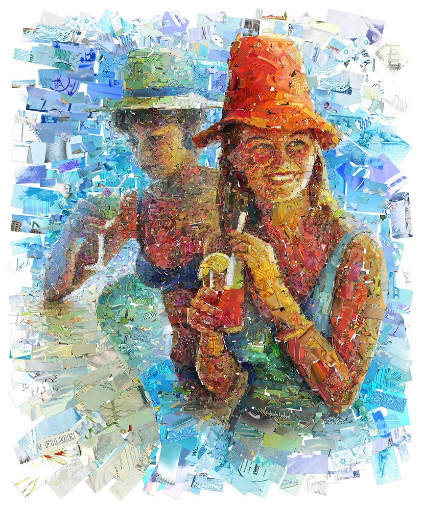 "Image of ENDLESS SUMMER ""Acapulco"" (Limited edition digital mosaic on canvas)"