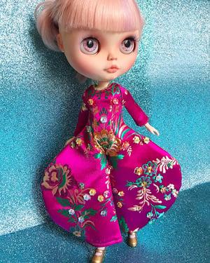 Image of Lounging Linda Pink Embellished Brocade Bowie