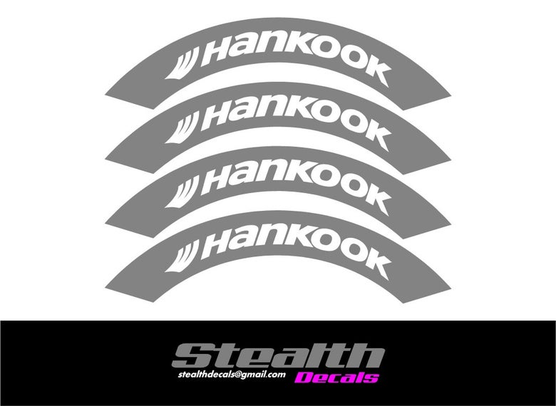 Image of HANKOOK Tyre Stencil Stickers