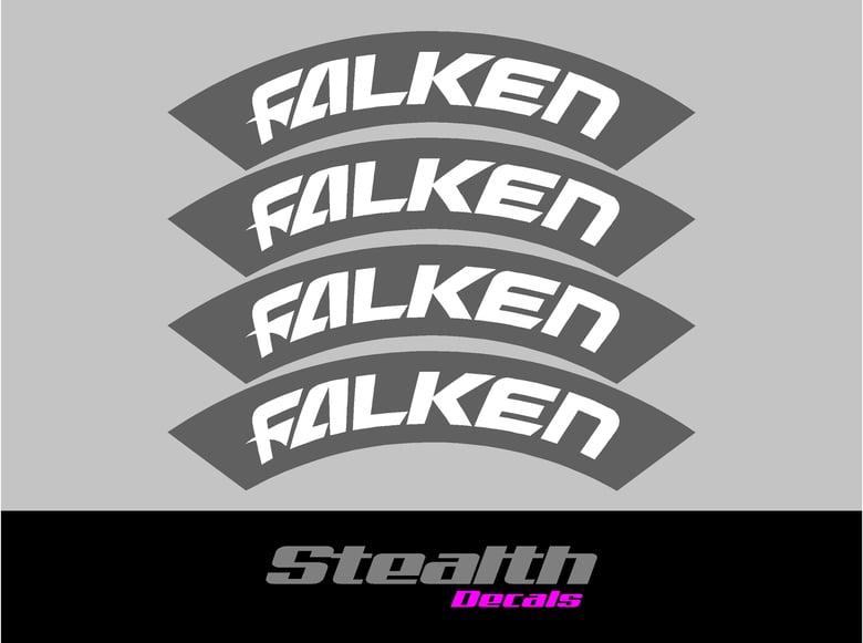 Image of FALKEN Tyre Stencil Stickers