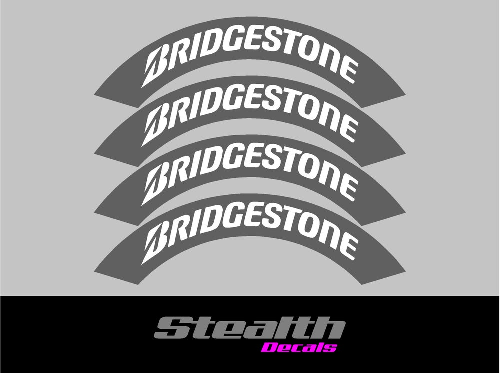 Image of BRIDGESTONE Tyre Stencil Stickers