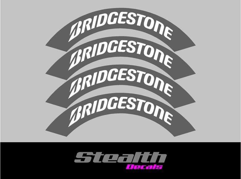 Image of BRIDGESTONE Tyre Stencil Stickers