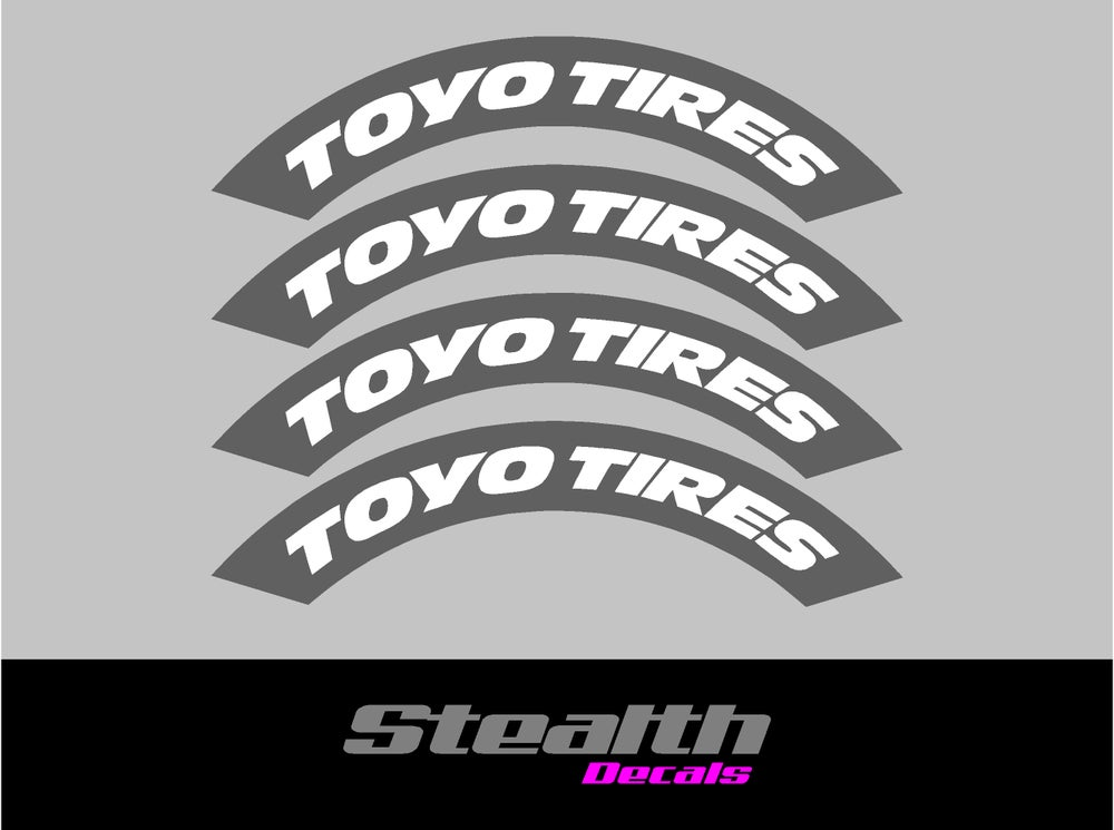 Image of TOYO Tyre Stencil Stickers