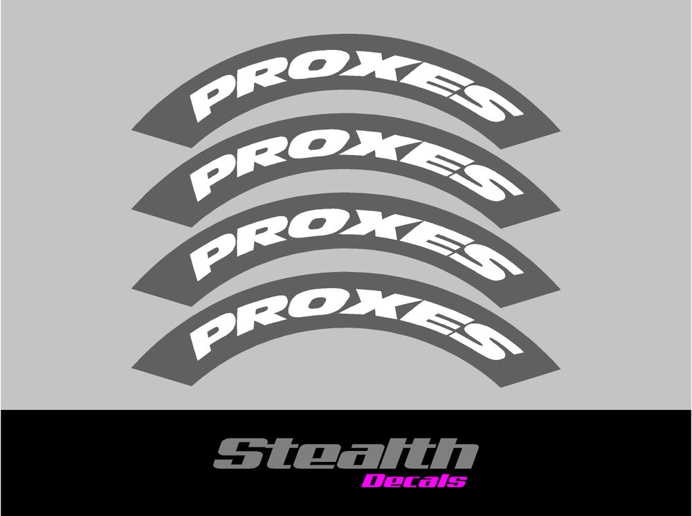 Image of PROXES Tyre Stencil Stickers