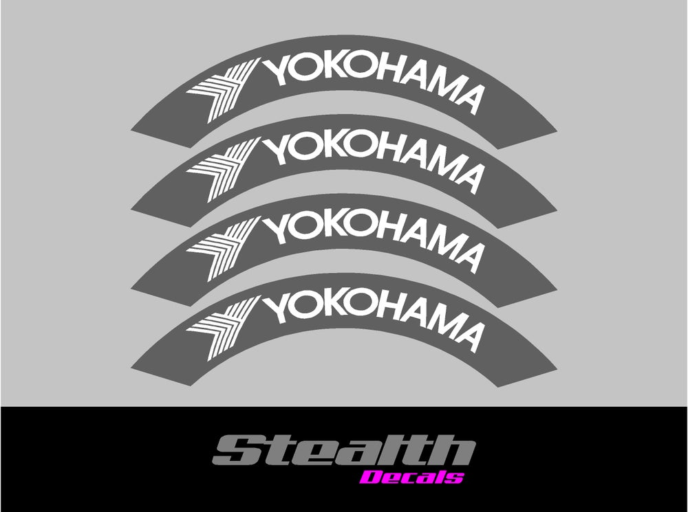 Image of YOKOHAMA Tyre Stencil Stickers