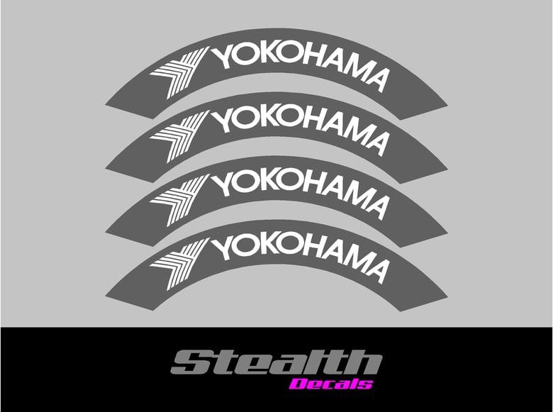 Image of YOKOHAMA Tyre Stencil Stickers