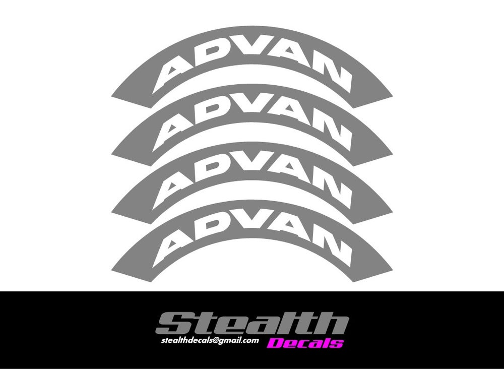 Image of ADVAN Tyre Stencil Stickers