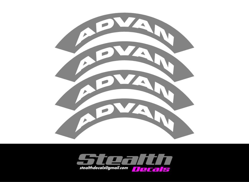 Image of ADVAN Tyre Stencil Stickers
