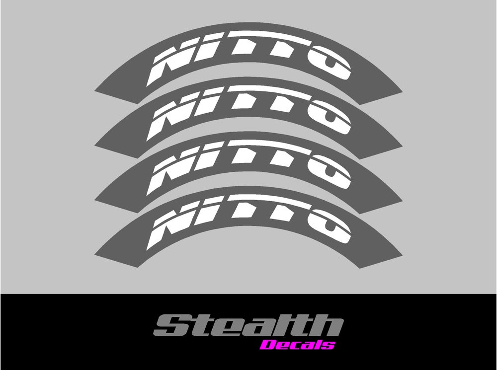 Image of NITTO Tyre Stencil Stickers