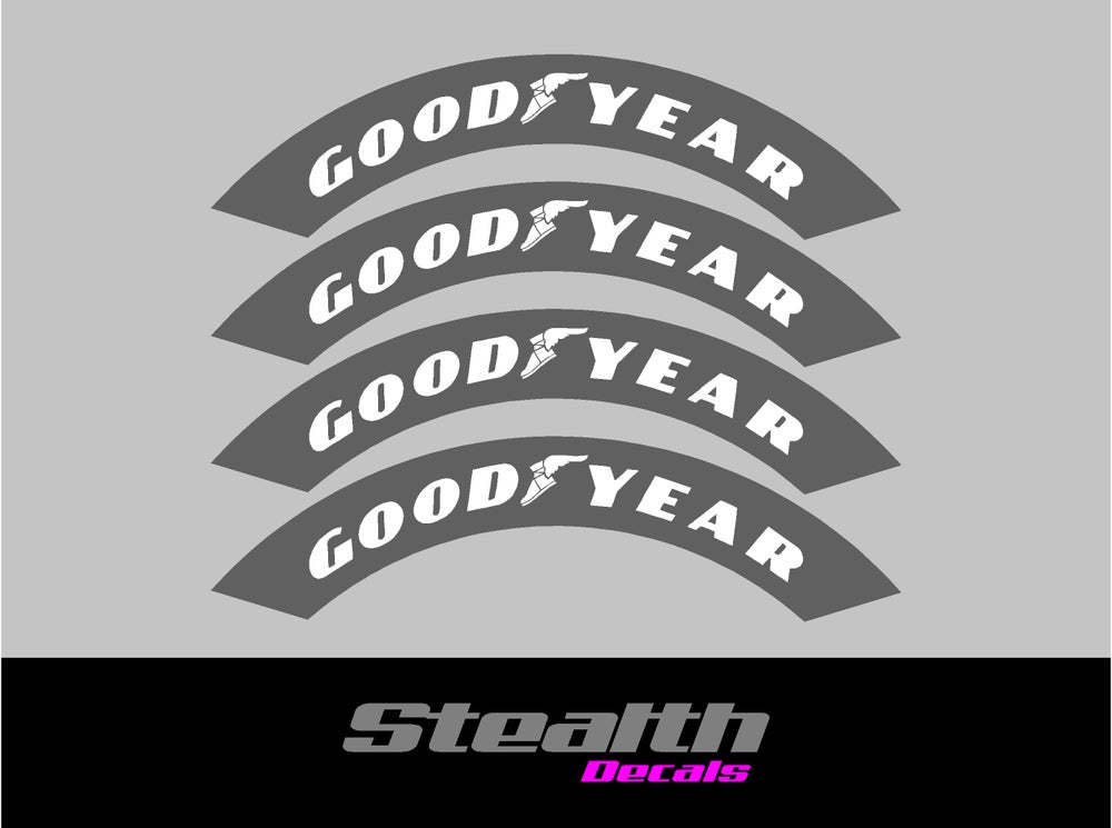 Image of GOODYEAR Tyre Stencil Stickers