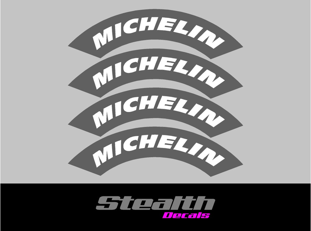 Image of MICHELIN Tyre Stencil Stickers