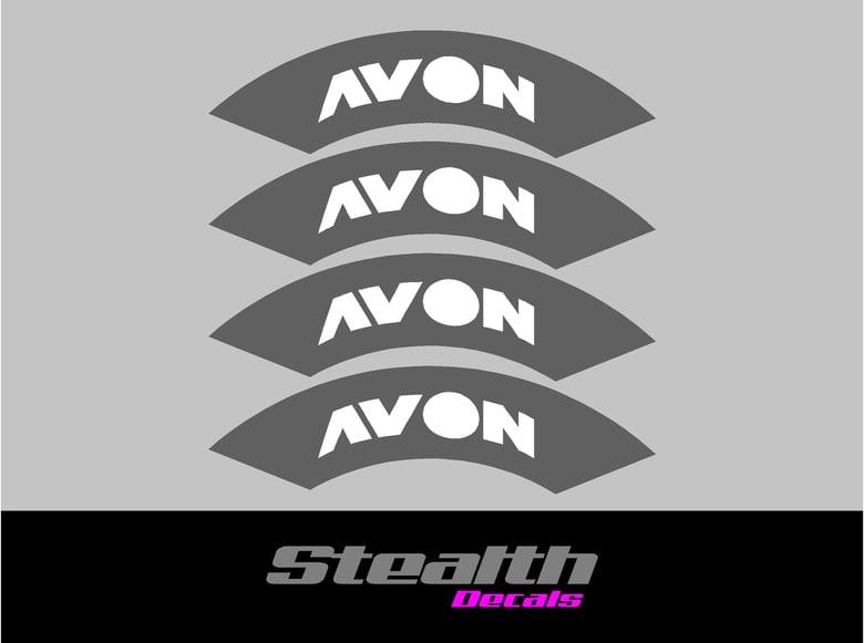 Image of AVON Tyre Stencil Stickers