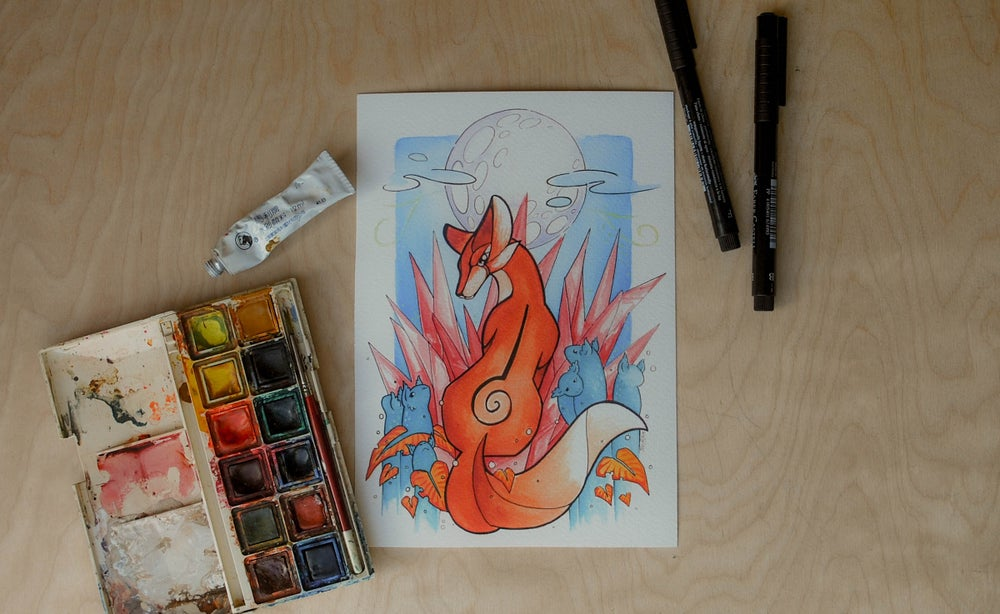 Image of Moon Fox - Art Print