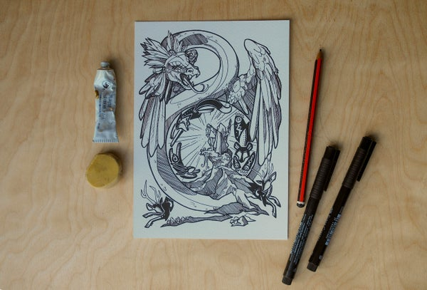 Image of Serpents Cavern - Art Print