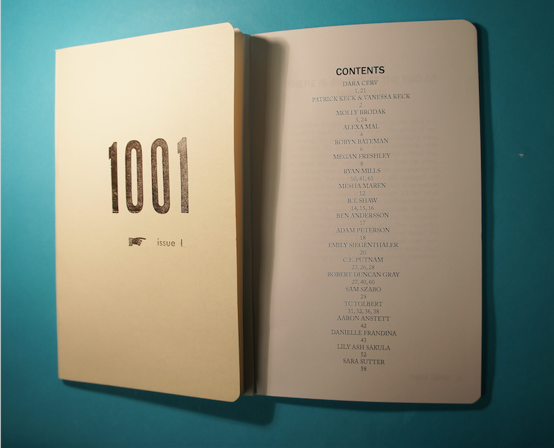 Image of 1001 Literary Journal Issue 1 Edition 1