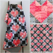 Image of Heart String Quilt PDF for ombre fabric