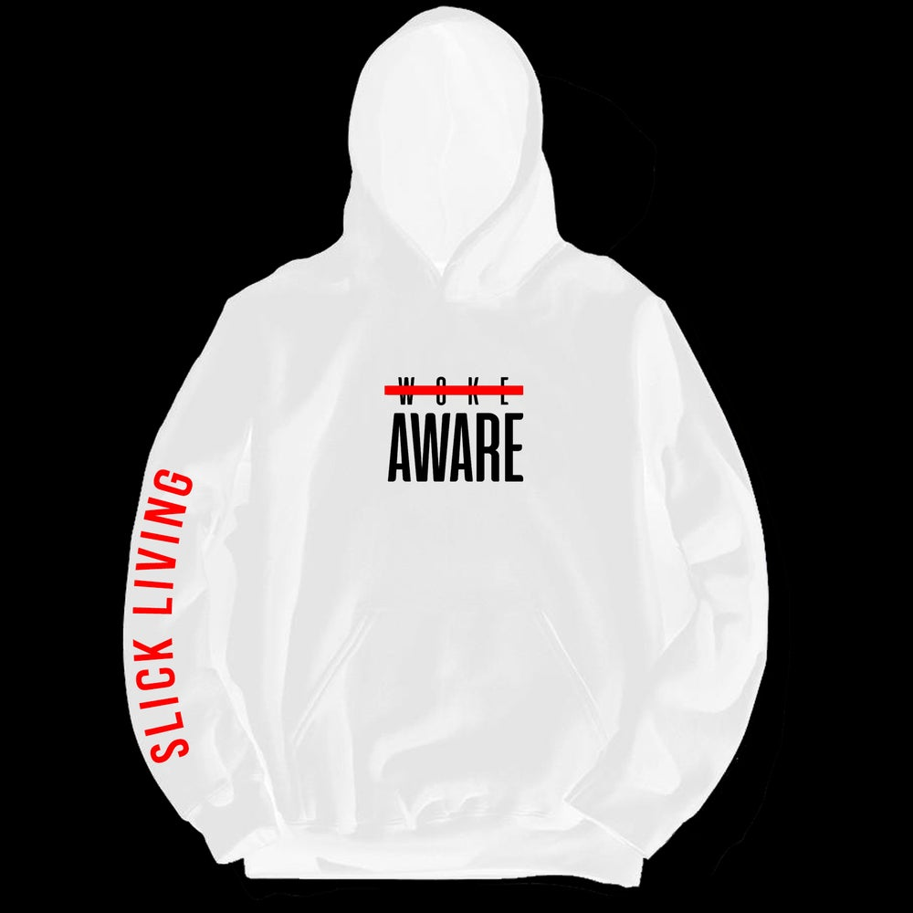 Image of AWARE MOTTO PULLOVER HOODIE | EXCLUSIVE RELEASE