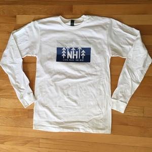 Image of Unisex White NH Tree Logo Long Sleeve