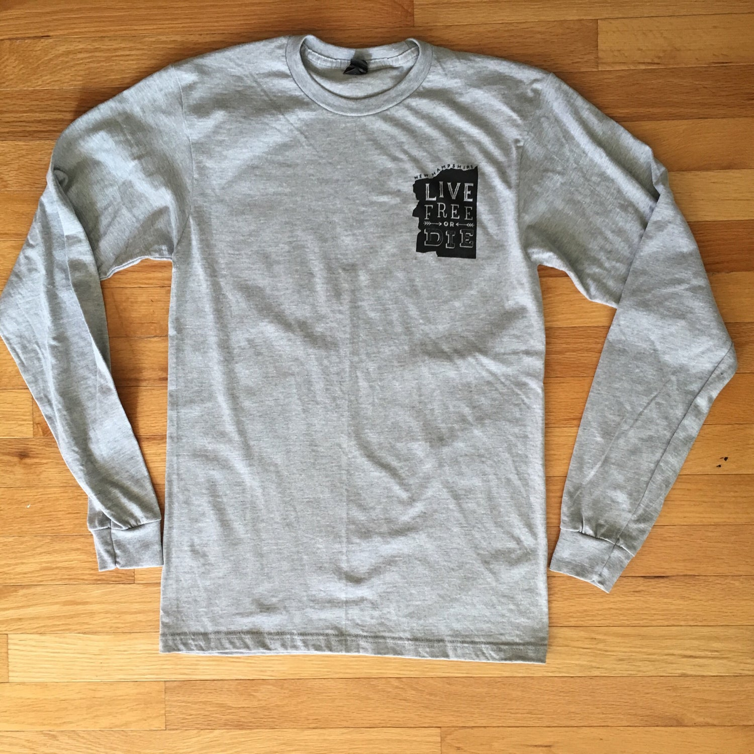 Image of Unisex Heather Grey Old Man Long Sleeve