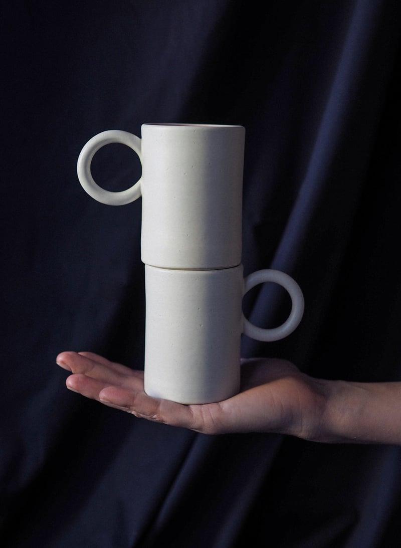 Image of Round handle mug pink / M
