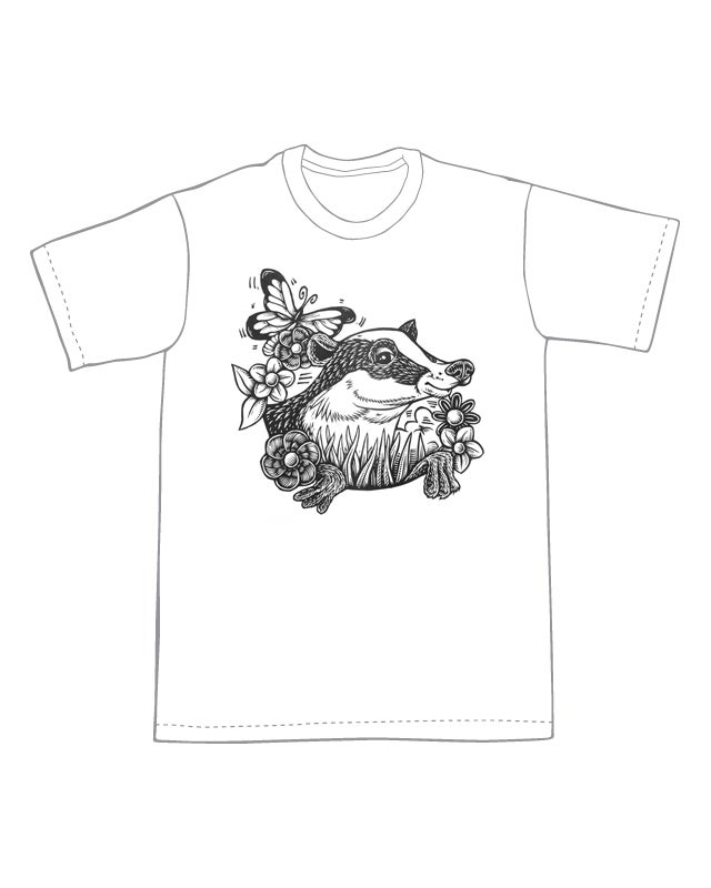 Image of Friendly Badger T-shirt **FREE SHIPPING**