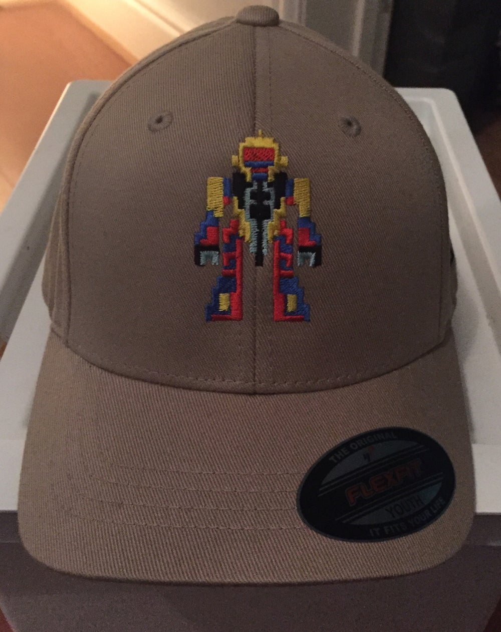 Image of Khaki Urban Youths Fiited Cap - Retro-Robot Design