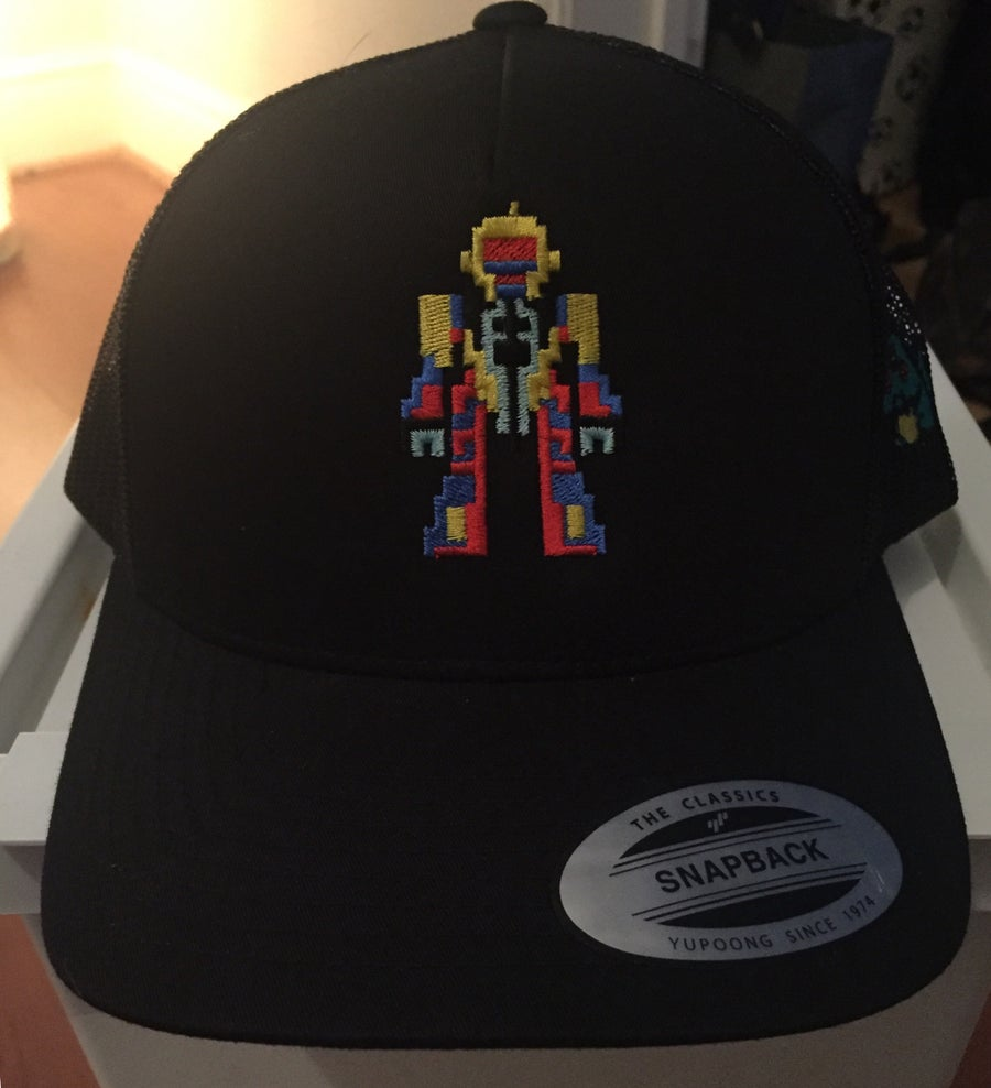 Image of Black Retro Trucker - Retro Robot Design