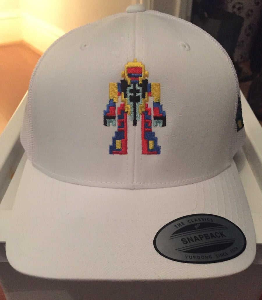 Image of All-White Retro Trucker - Retro Robot Design