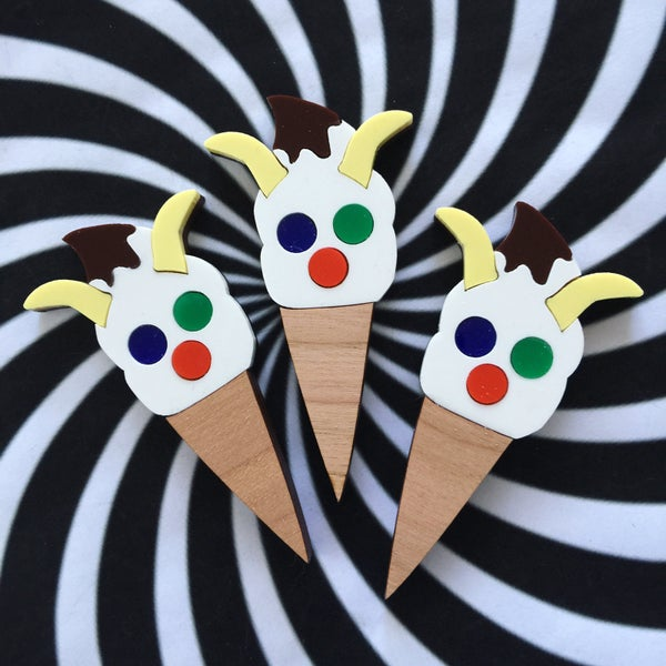 Image of The Face Icecream Brooch