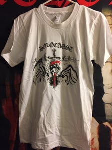 Image of HOLOCAUST 'heavy metal maniac' shirt