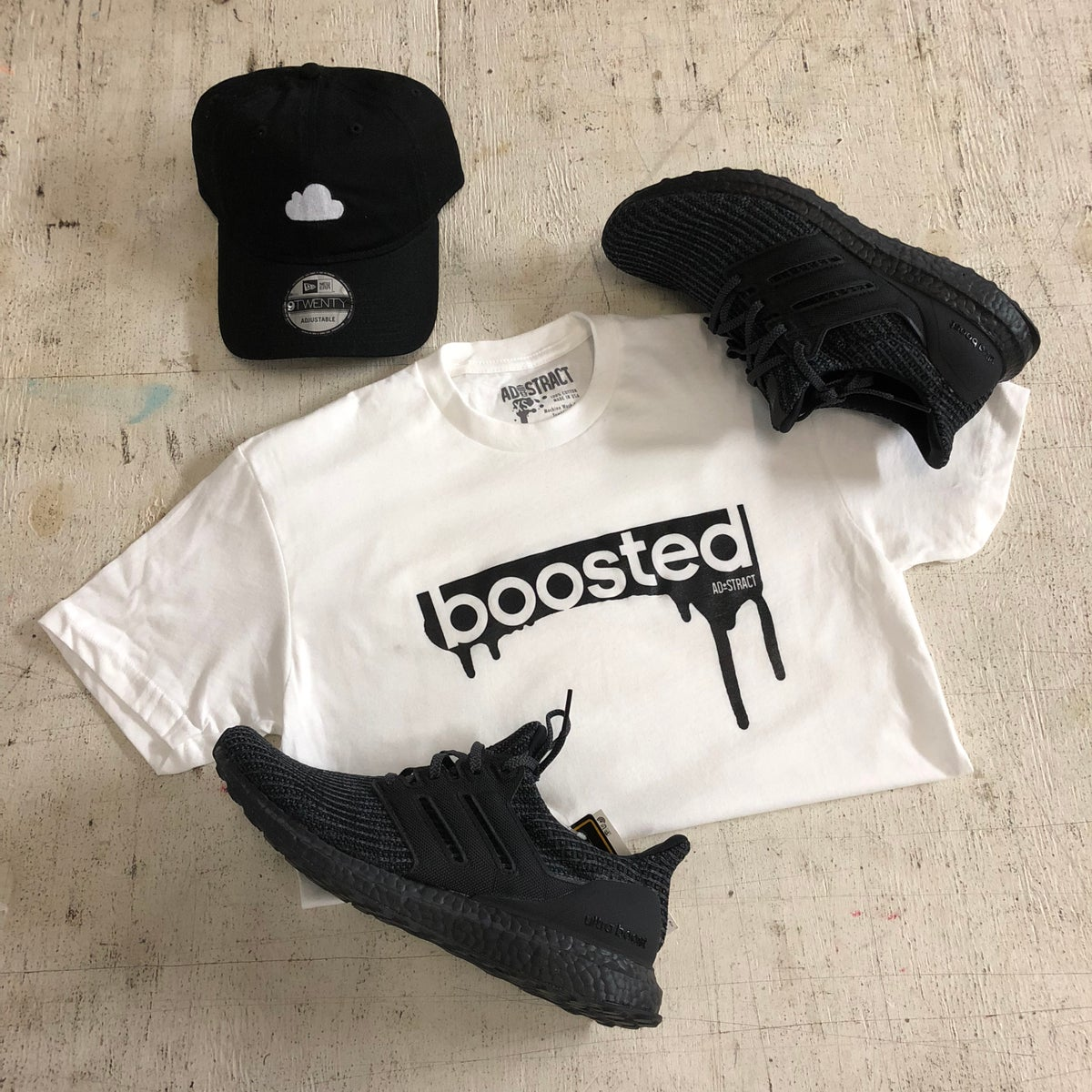 "Image of BOOSTED ""WHITE"" TSHIRT"