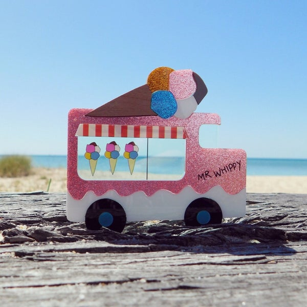 Image of Mr Whippy Icecream Truck Brooch LIMITED