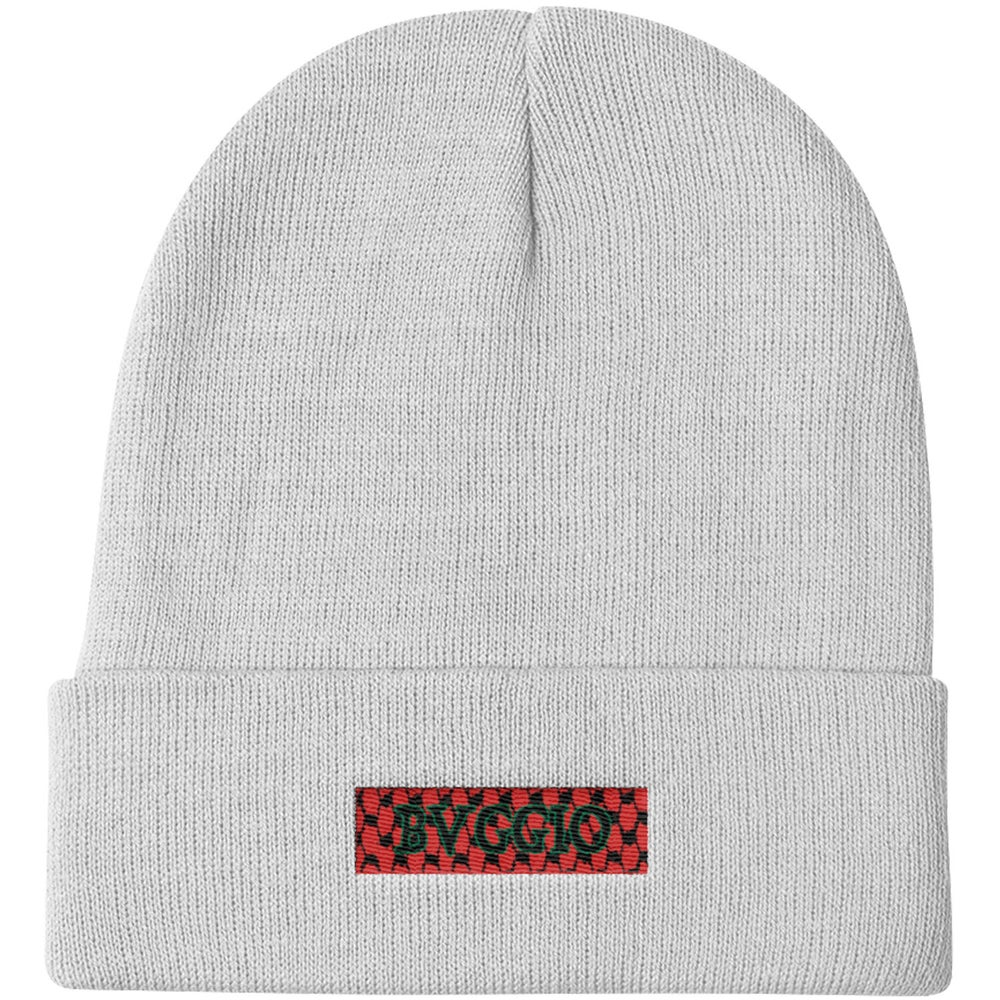 Image of Box Logo Beanie (Red, Green)