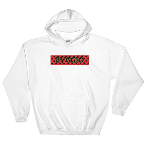 Image of Box Logo Sweatshirt (White) (Red, Green)