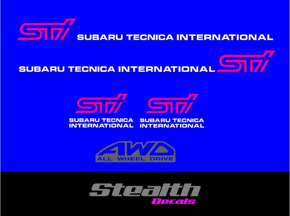 Image of Sticker set for Subaru impreza wrx STI.