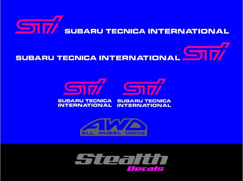 Image of Sticker set for Subaru impreza wrx STI.