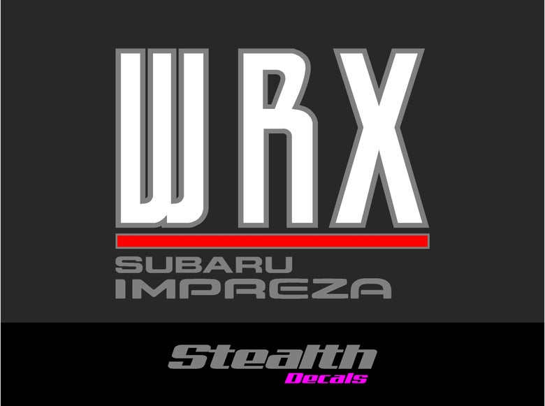 Image of WRX Rear boot decal