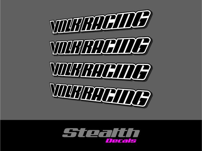 Image of Volk Racing GTC Wheel Spoke Decal Sticker x 4 pcs