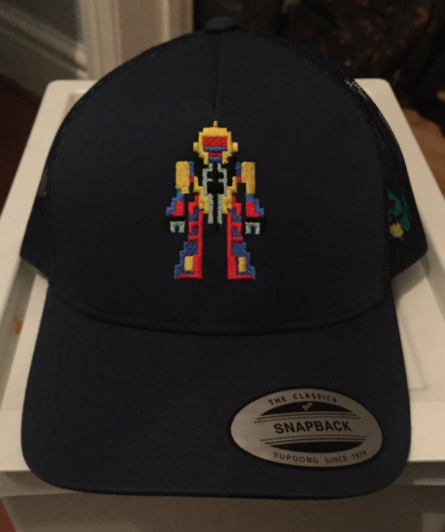 Image of All-Navy Retro Trucker - Retro Robot Design