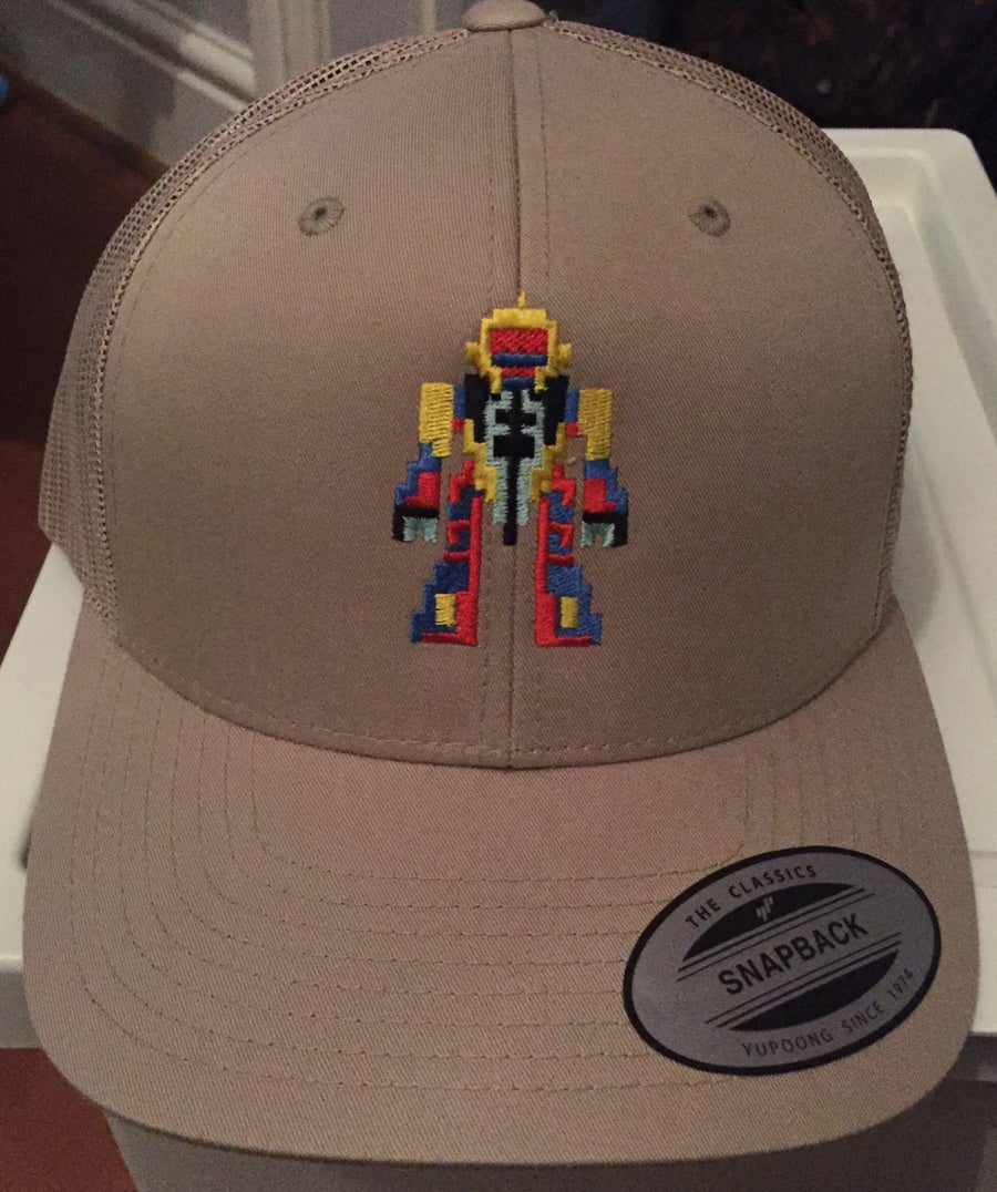 Image of Khaki Retro Trucker - Retro Robot Design